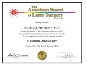 Why Certify Laser Surgery & Medicine American Board of Laser Surgery