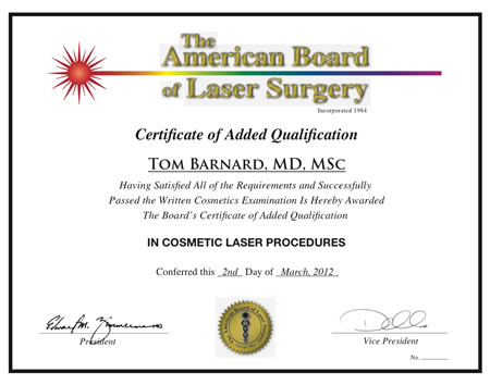 Certificate of added qualification in cosmetic laser procedures sample of the certificate of added qualification yelopaper Image collections